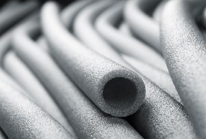 pile of pipe insulation tubes