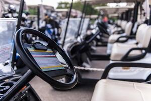 A golf cart.