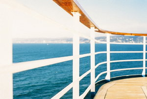 boat deck on the water