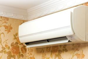 A split air conditioner.