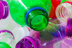 colorful plastic bottles