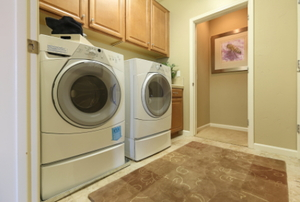 washing machine in a laundry room