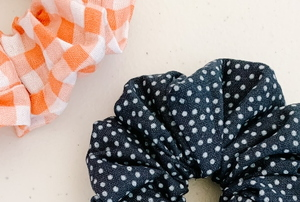 homemade fabric scrunchies