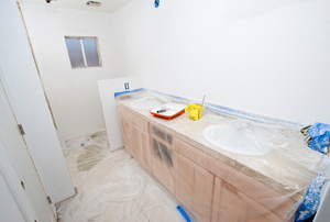 Bathroom during remodel