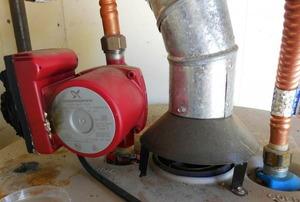 A sump pump.