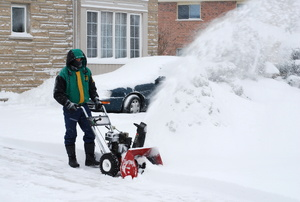 A snowblower.