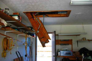 Werner's Easy Access Steel Attic Ladder