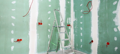 Green Board Is A Type Of Drywall Used In The Construction Of Commonly Damp  Areas Of The Home    Such As The Bathroom, Kitchen, And Laundry Room.