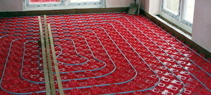 Installing A Radiant Floor Heat System DoItYourselfcom - How to do radiant floor heating