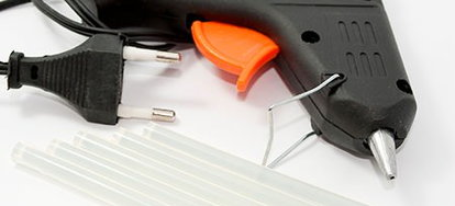 how to clean and care for your hot glue gun. Black Bedroom Furniture Sets. Home Design Ideas