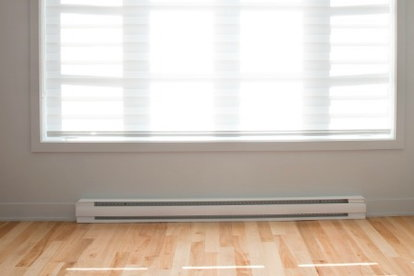 Use A Baseboard Heater To Save Space