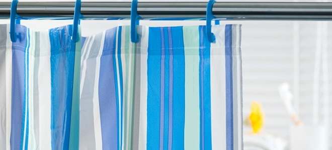 striped bathroom shower curtain