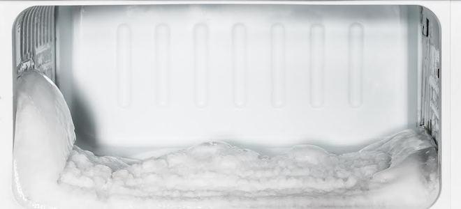 Freezer pieno di ghiaccio