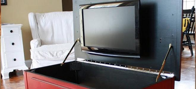TV hidden in chest