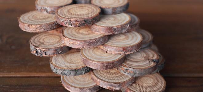 Tree coasters.
