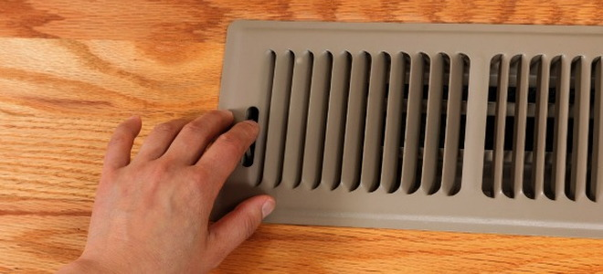 An HVAC floor register.