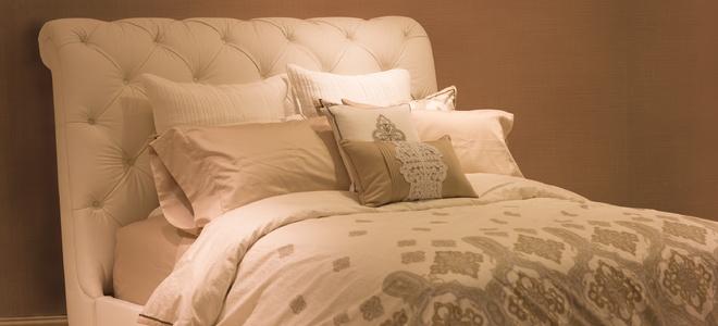 A minimalist bedroom.