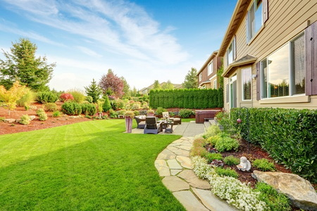 Beautify Your Backyard Landscape on a Budget ... on Best Yard Design id=17793