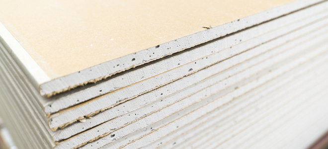 A stack of drywall boards.