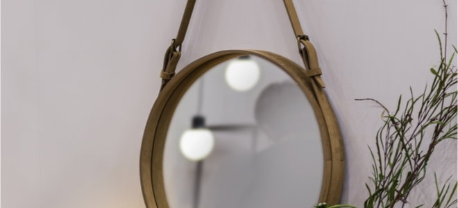 mirror hanging with rope