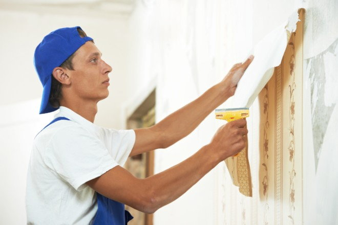 Wallpaper Removal Using Fabric Softener