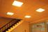 Fluorescent ceiling lights.