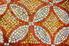 A patterned, tile background.