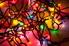 A tangle of multi-colored Christmas lights.