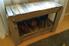 A wood pallet shoe bench