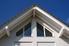 Peak of a home's roofline
