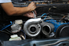 Man working on a car engine