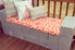 Cement block bench with cushion and pillows