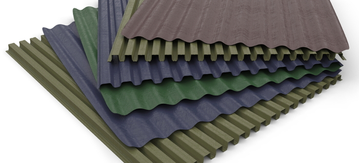 Ribbed Roof Tiles Amp Classic Rib Steel Roof Panel In Ocean