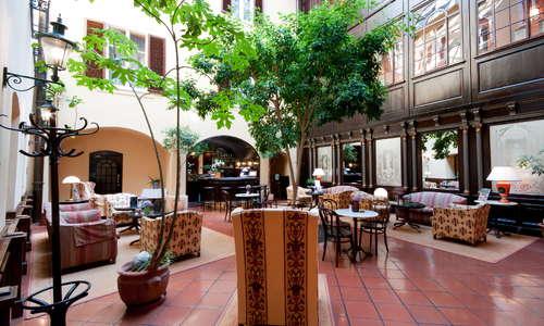 Atrium with bar