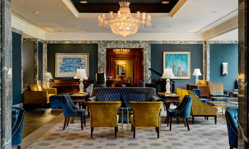 The central position and effortless style of The Lobby Lounge makes it the perfect venue for all-day dining.