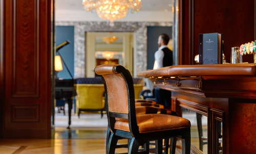 A cosy, intimate bar featuring a large collection of Irish Whiskey's  – with over 100 Whiskey labels including 69 Irish whiskey's. Whiskey tastings can be arranged with our Whiskey Sommelier.
