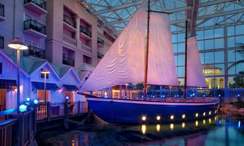 Dine at MOOR inside an indoor sailboat