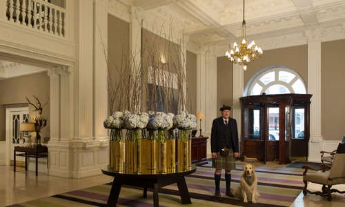 The Balmoral lobby