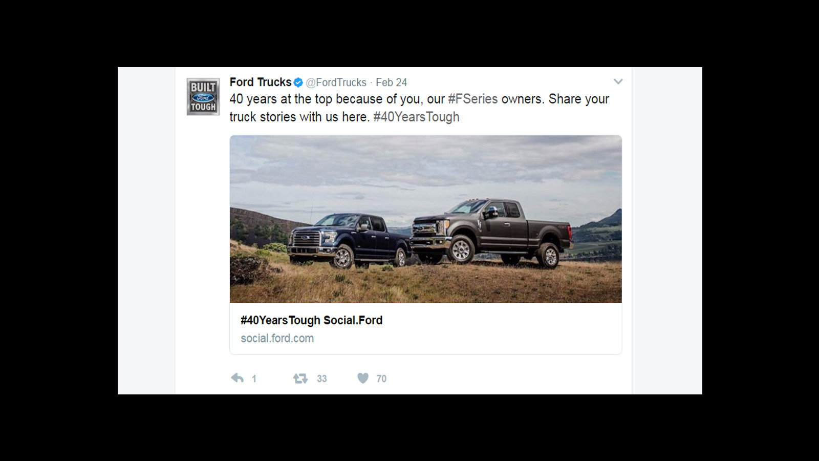 Ford F-Series Top Selling Truck for 40 Years Straight