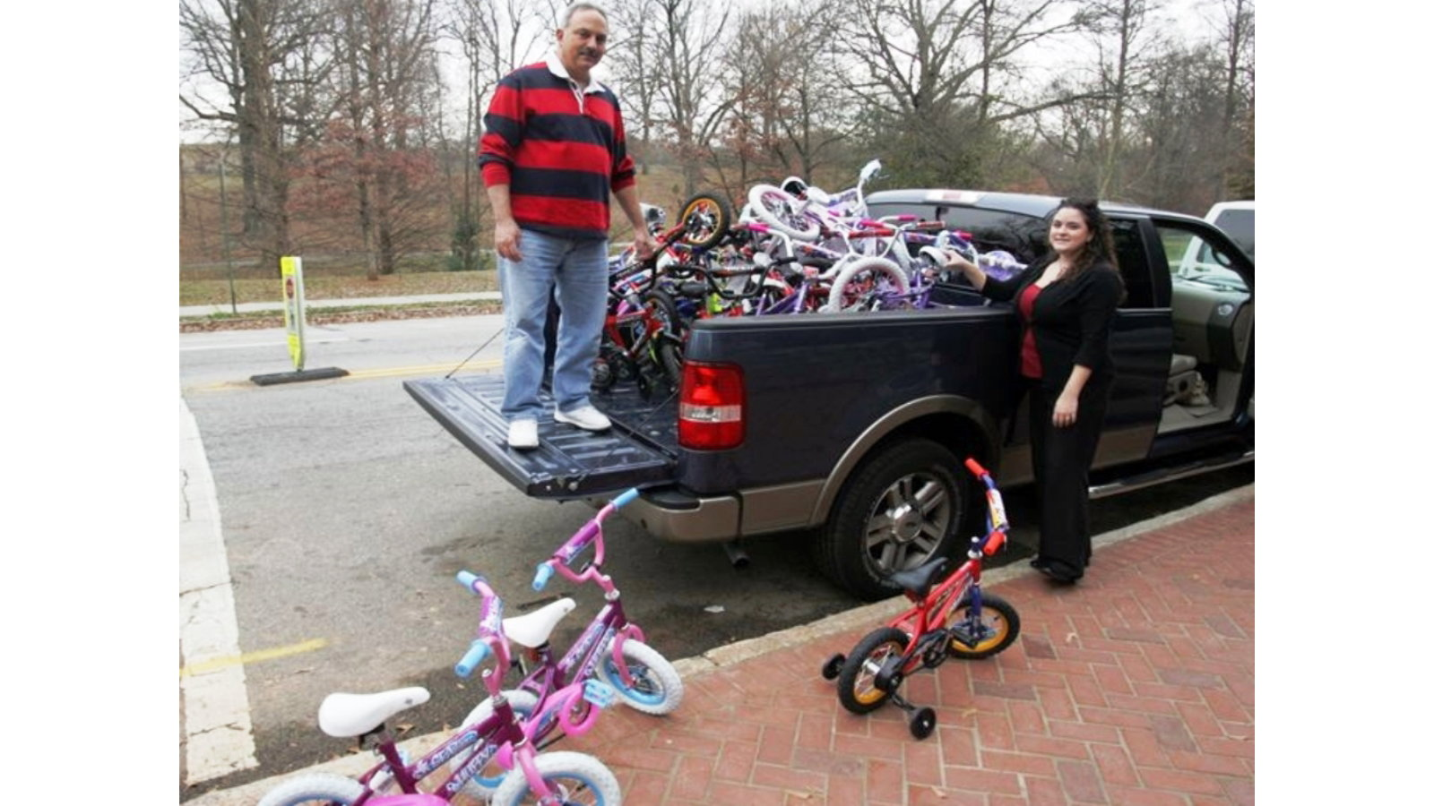 St. Elias Church Gives a Truckload of Bikes