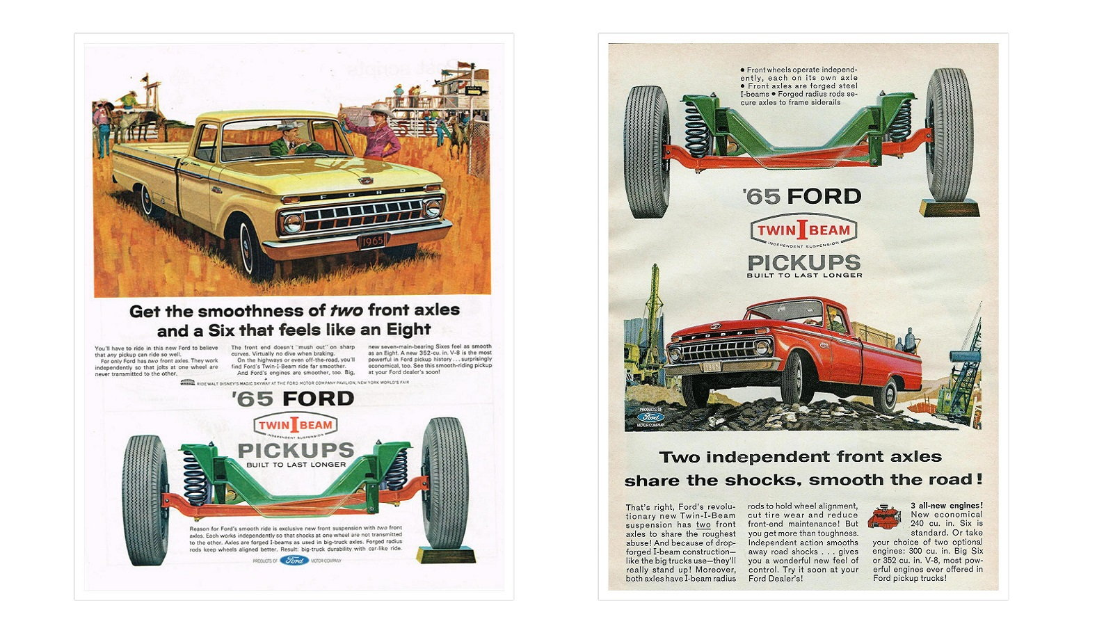 Ford offered the first independent front suspension on a domestic pickup