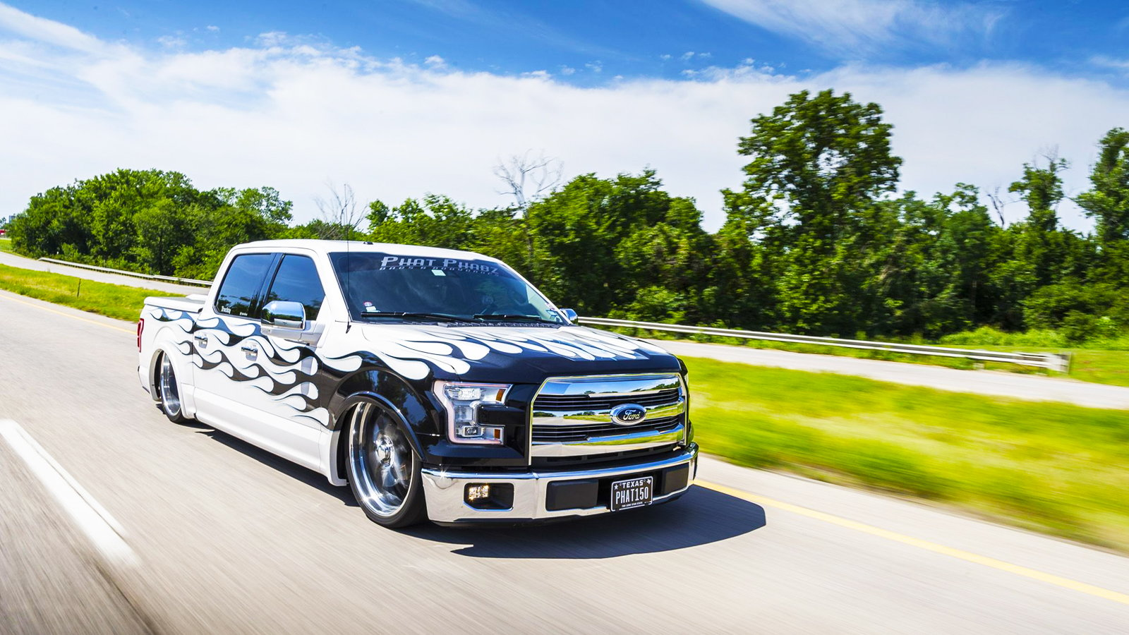 This F-150 Is Burning White Hot