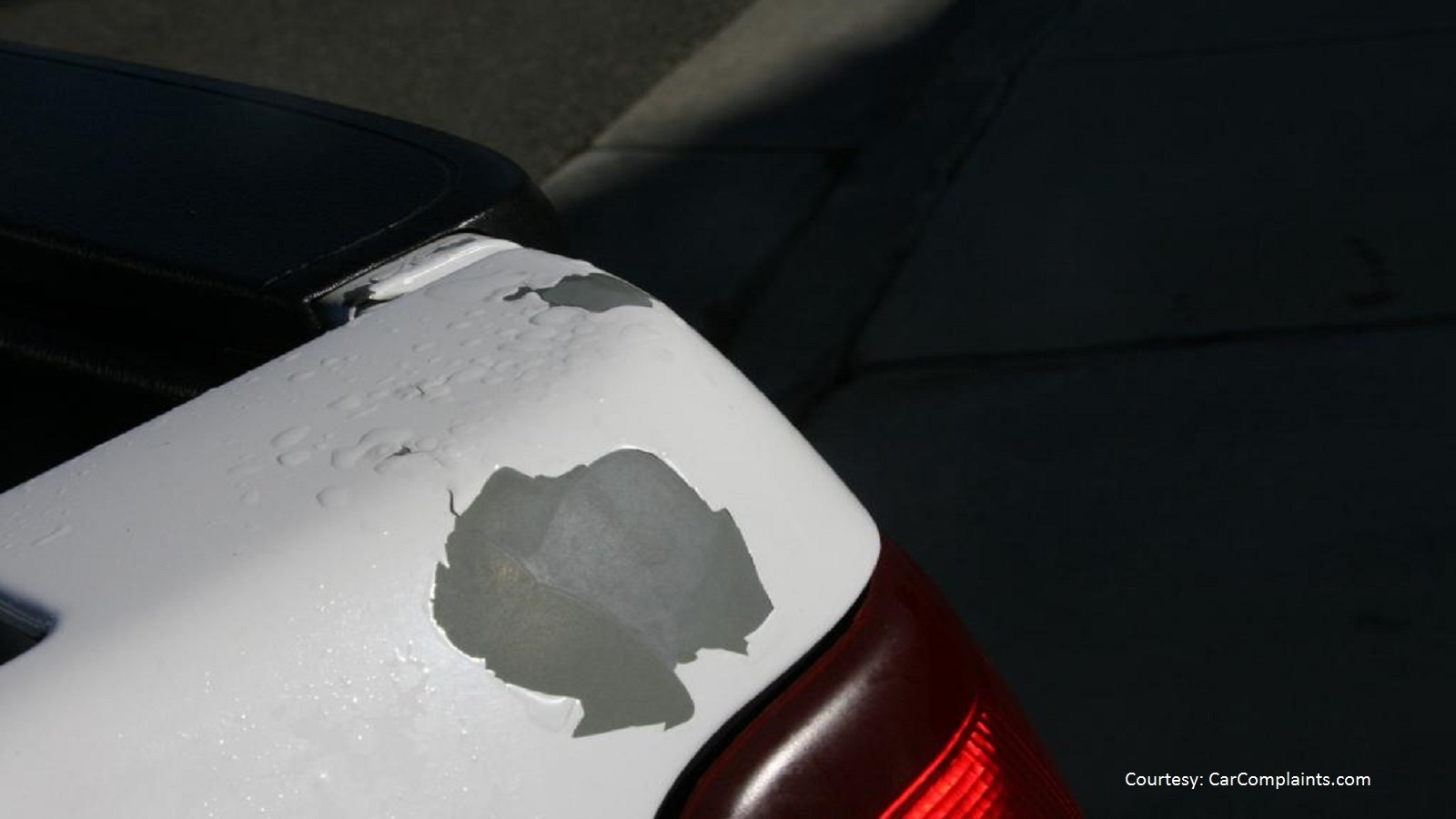 Flaking and Peeling Paint on a 2002 Silverado