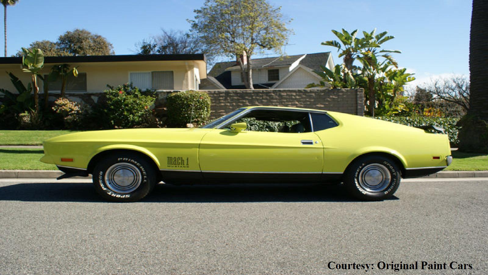 Lemon Yellow Ford Mustang