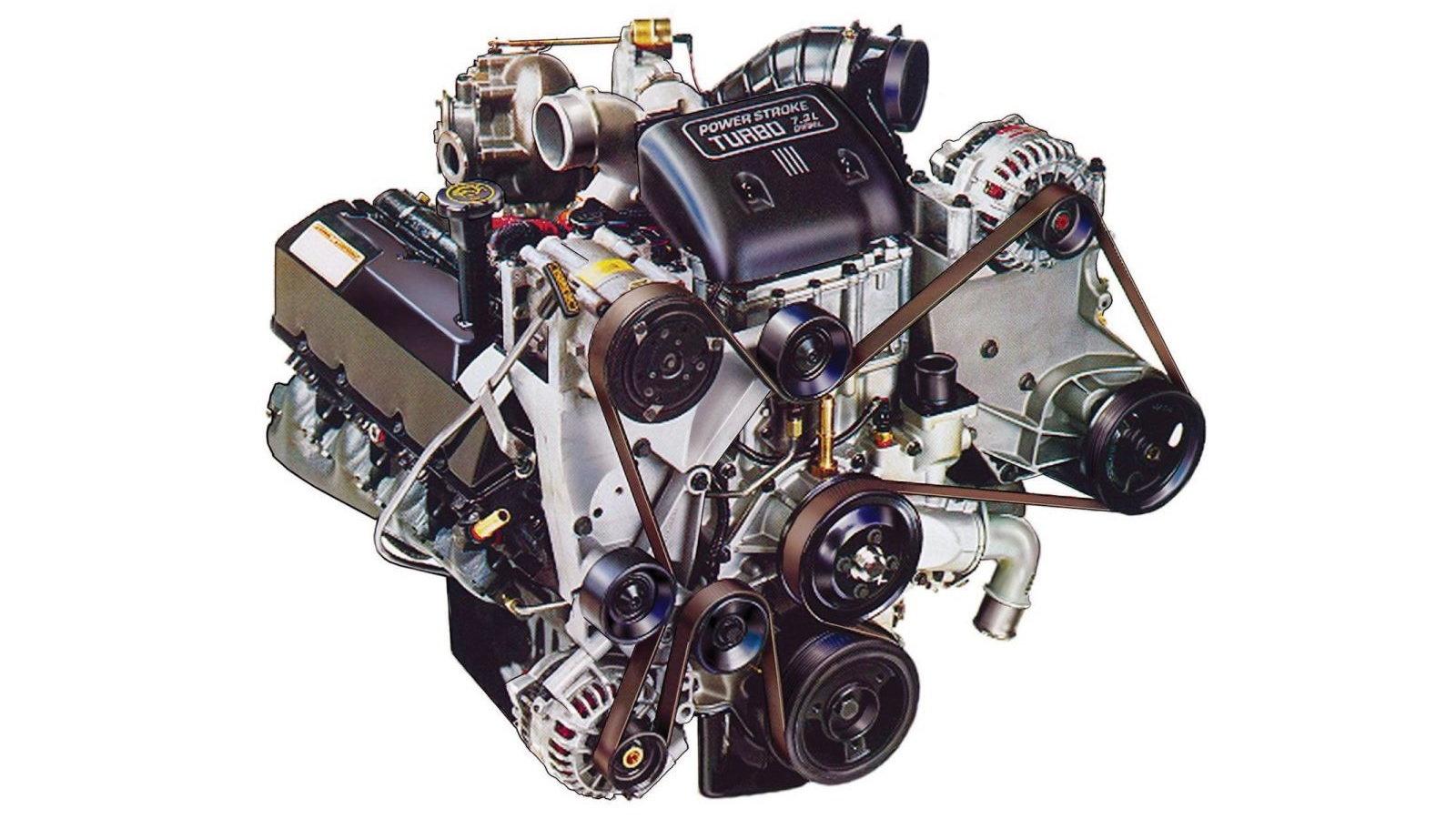 9. Ford 7.3 Liter PowerStroke Turbo Diesel