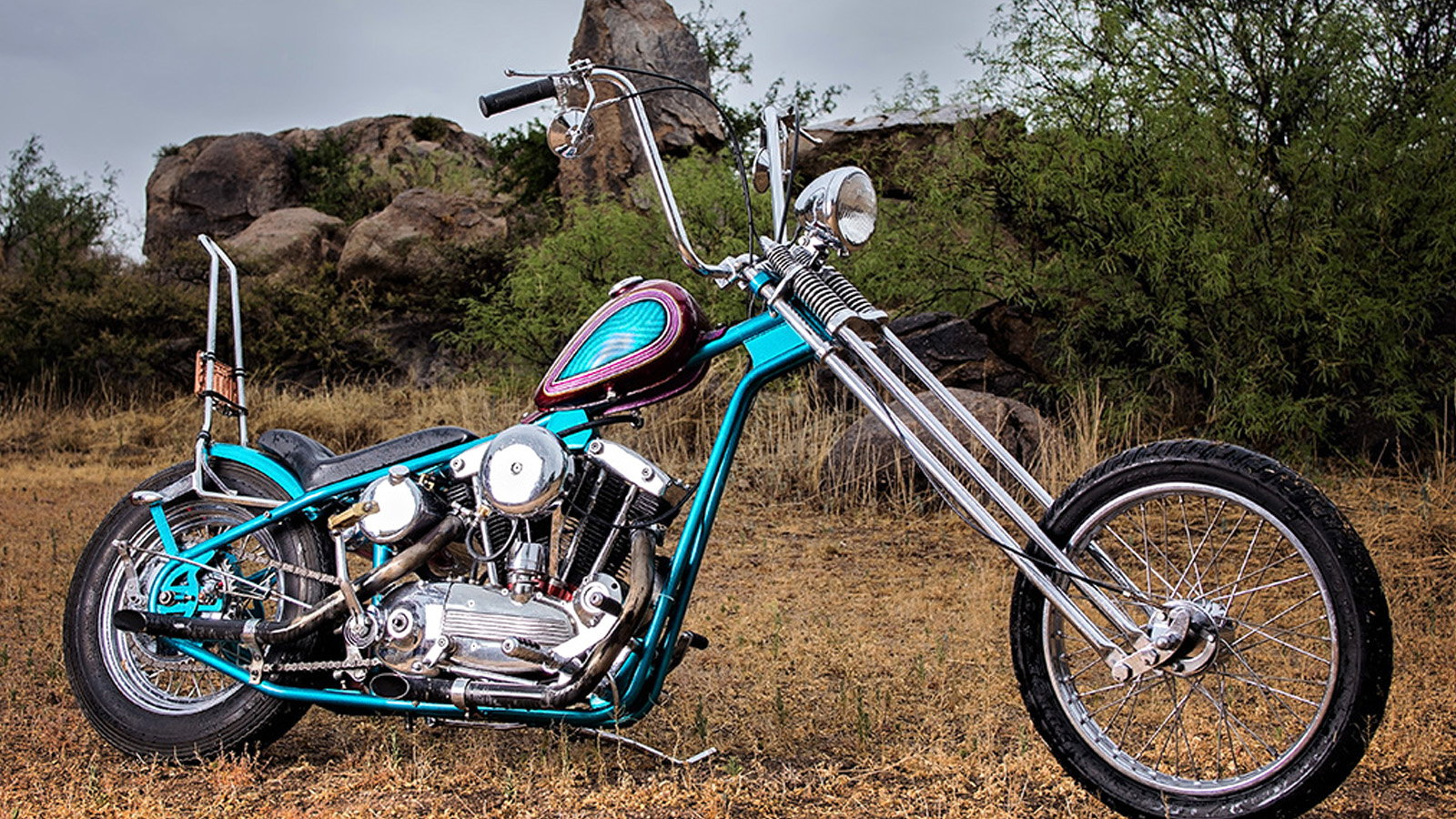 Vintage Ironhead Chopper is One Groovy Machine