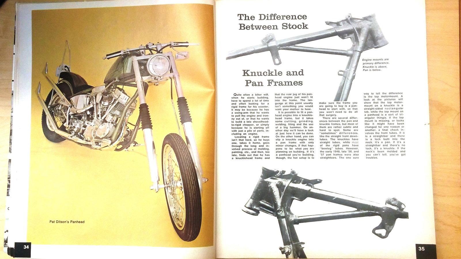 12 Cool Things Learned From The 1977 Jammers Handbook Hdforums Cycle Electrics Panhead Wiring Diagram Pan Head Vs Knuckle Frames