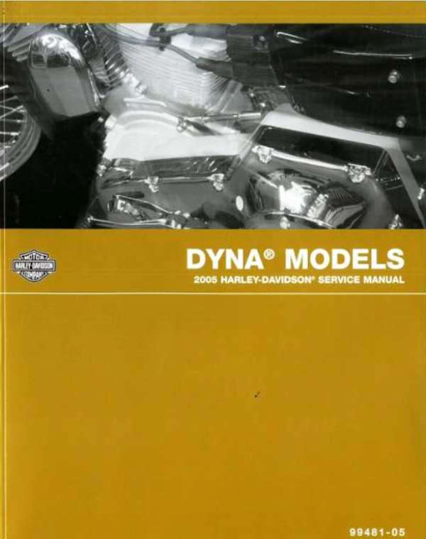2005 Dyna factory service manual