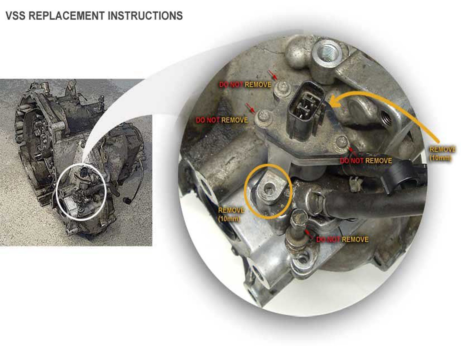 Honda automatic transmission VSS location
