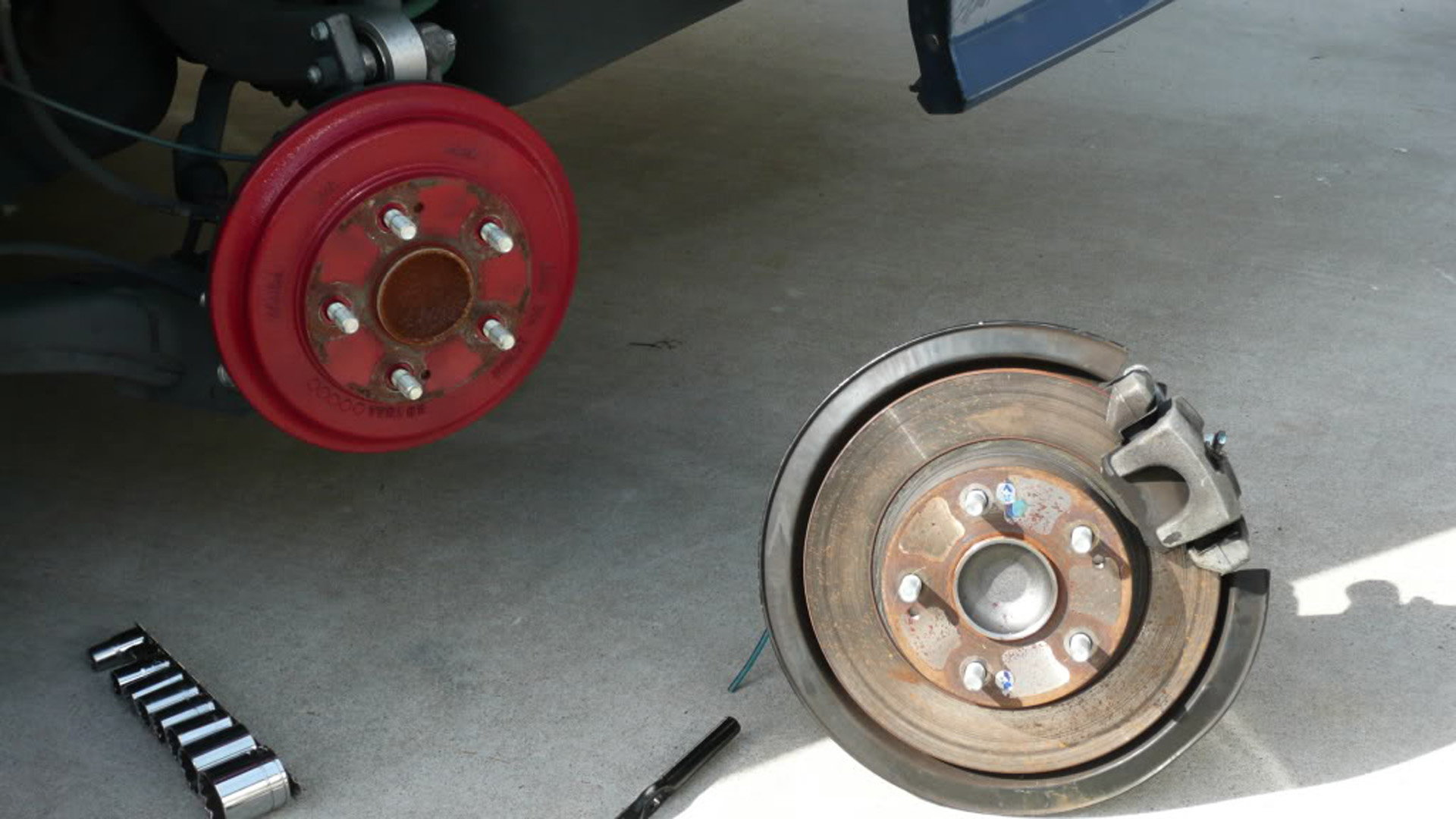 brake disc honda conversion rear civic kit install tech modifications oem